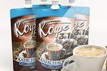 Концепция упаковки жидкого кофе 3в1