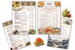 Вкладки в меню для ресторана «Старая Аллея»