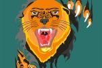 «Тигр», векторный рисунок