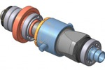3D-модель сборки патрона подачи трубы стана ХПТ6-20