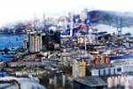 Коллаж из фотографий Владивостока.