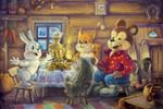 Сказка о том, как медведь Степан день рождения праздновал