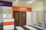 Визуализация арендуемой площади по продаже дверей в ТЦ.