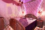 Дизайн спальни в розовых оттенках для девушки