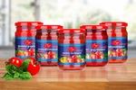 """Этикетки для томатных соусов """"Маслопродукт"""""""
