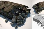 Разрушенный ангар (объект для игры)