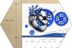 Дизайн квартального календаря с часами