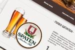 """Дизайн  для сайта пивного бара """"Музей пива"""""""