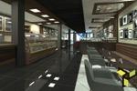 3д визуализация интерьер, кафе