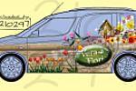 Оформление автомобиля для цветочной лавки Vera Fiori