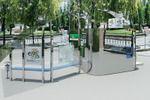 Автобусная остановка. Разработана для ЧМ по футболу в Киеве