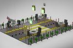 3d дизайн торгового модуля
