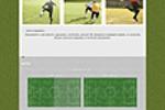 Простой Landing page для аренды футбольного поля