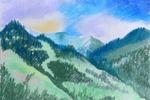 Горы Заилийского Алатау. Зарисовка