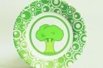 Green food тарелка