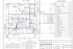 (ВК) - Банк (9 эт.) Якутия - План 1-го этажа с сетями В1, Т3