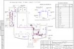 (ВК) - Кафе Розмарин - План помещения с сетями В1, Т3, К1
