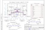 (ВК) - Коттедж дуплекс Курск - План 1-го этажа с сетями В1, Т3