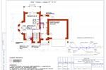 (ВК) - Коттедж Пермь - План 1-го этажа с сетями В1, Т3, К1