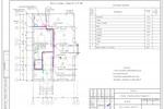 (ВК) - Коттедж Рязановское - План 1-го этажа с сетями В1, Т3
