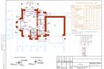 ОВ - Коттедж Пермь - План 1-го этажа с системой отопления