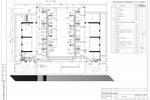 (В) - Дом культуры Москва - План 3-го этажа с сетями вентиляции