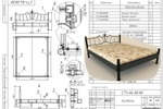 Кованная мебель, кровать
