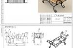 Кованная мебель, скамья