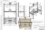 Кованная мебель, столик_2