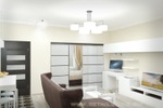 Дизайн проект квартиры, общей площадью 53м2.