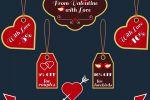 Лейблы со скидками на День святого Валентина