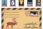 Почтовый конверт и марки на новогоднюю и рождественскую тематики