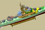 Модель сторожевого корабля
