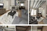 Интерьер частного дома площадью 120 кв.м. Общие зоны