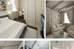Интерьер частного дома площадью 120 кв.м. Жилые зоны