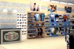 Рабочий эскиз оформления магазина джинсовой одежды