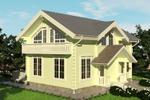 Визуализация дома из бруса