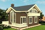 Дом из бруса 2 цветовое решение