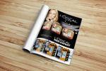 Рекламная полоса в журнале