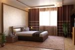 Рендер 3D модели спальной комнаты
