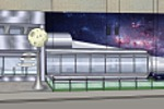 Оформление фасада магазина (Космос)