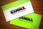 """Визитка компании товаров для животных """"GAMMA"""""""