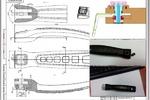 Рабочая CAD модель и КД(Ручка сковородная быстросъёмная)