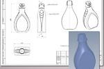 """Рабочая CAD модель пластикового флакона """"Эколь""""(2014г.)"""