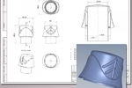 """Рабочая CAD модель колпачка для флакона """"Эколь""""(2014г.)"""