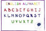 Векторный английский алфавит написанный тушью