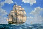 Рисует мальчик корабли...