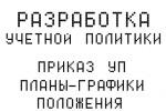"""Разработка """"Учетной политики"""""""