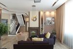 Дизайн и визуализация гостиной в частном доме