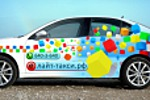 Дизайн-макет для рекламы на транспорте для лайт-такси.рф